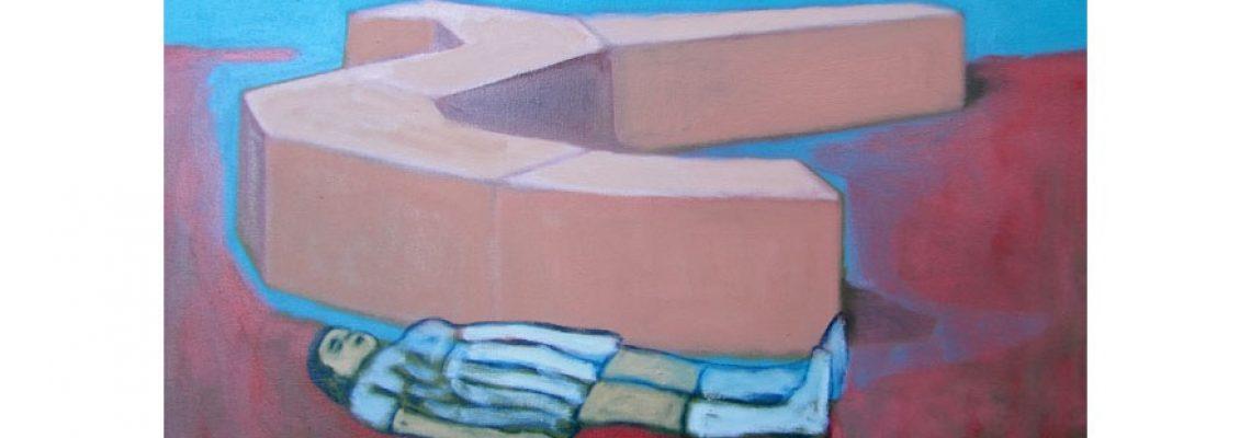 MarieVandooren-Louisedsgaleriemythologie#2, huile sur toile, 55x46 cm