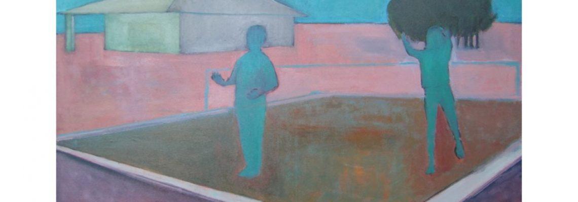 dsgalerie-marievandooren-décor au ballon, huile sur toile, 81x100cm, 2020